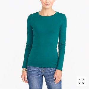 J. Crew fine-rib cotton long-sleeve T-shirt